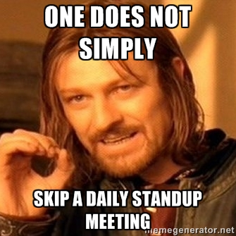 Meme about daily standups